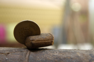 Hashish and coin