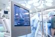 Leinwandbild Motiv Ultrasound examination in the Operating Room