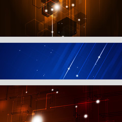 Abstract Technology Banners