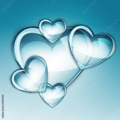 water drop heart two