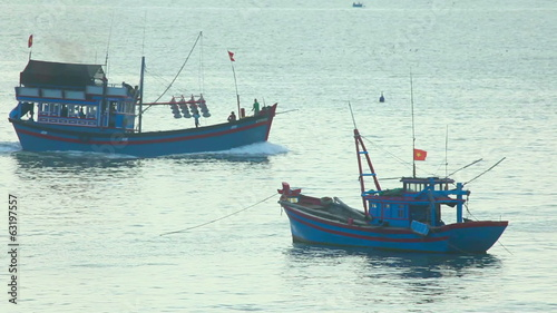 Fishing vessel coming back to port.
