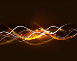 Neon glowing lines abstract background