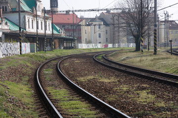 This is old railway station in Prague - Vyšehrad