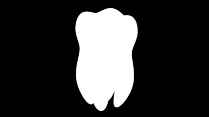 Tooth. Looping. Alpha channel included.