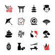 Japanese theme icon set