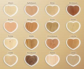 Holzarten übersicht quadrat