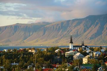 Reykjavik and mount Esja