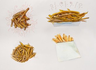 French fries. Fast food.