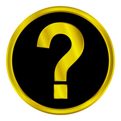 Gold question sign button