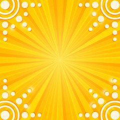 Paper Sun on Stripe Yellow Background.