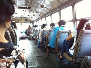 Passenger moment on the bus