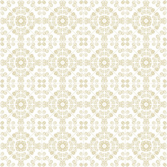 Beige Colors Art Nouveau Style Plant Pattern design. Original Pa