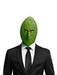 Portrait of a cactus head businessman