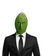 Portrait of a cactus head businessman