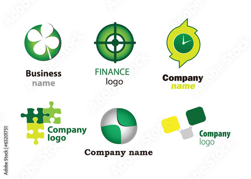 Collection of vector icons for banks and finance