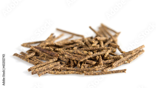 Herbal moxa acupuncture. Isolated on white background