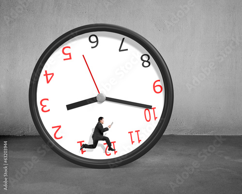 Running inside rolling clock