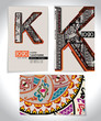Ancient Business card design LETTER K