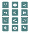 Diabetes icons || TEAL series