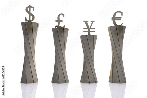 World currencies put on pedestals