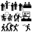 News Reporter Anchor Woman Newsroom Man Talk Show Host - 63204579