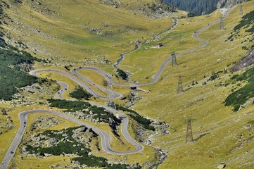 Transfagarasan mountain winding road