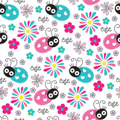 cute and flower pattern vector illustration