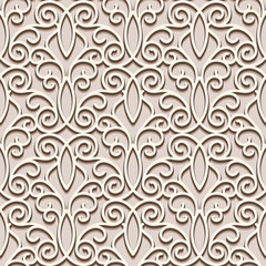 Seamless pattern, vintage lacy ornament