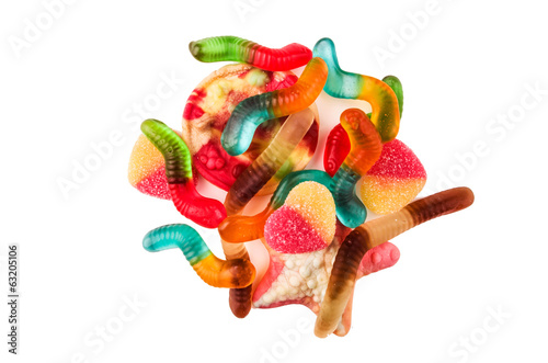 jelly candy worms