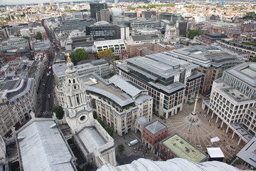 London from St Paul's Cathedral, UK.