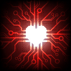 Vector electronic connected heart