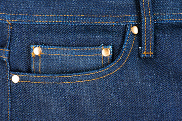 Close up on Jeans