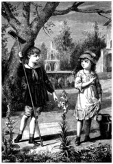 A Boy & a Girl - end 19th century