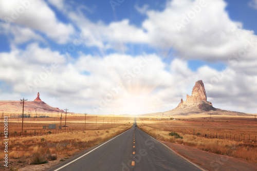 The American Highway in Monument Valley