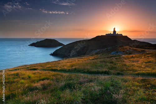 Strumble Head Lighthouse at sunset