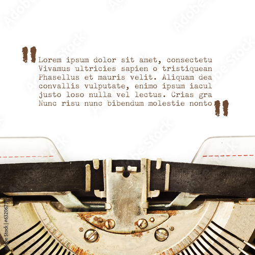 Typewriter card with copyspace