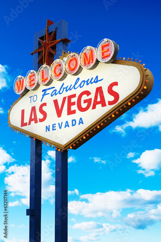 Foto op Plexiglas Las Vegas Welcome to Fabulous Las Vegas Sign Nevada