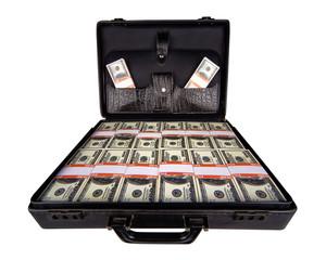 case full of dollar