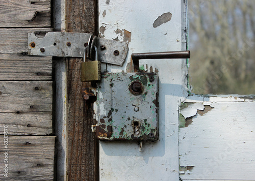 Rusty door lock
