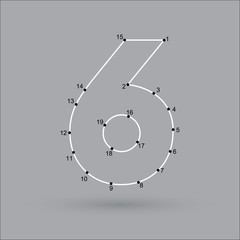 dot puzzle number 6