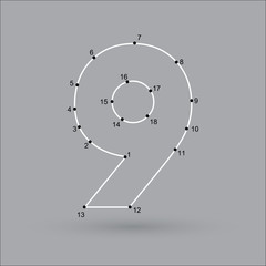 dot puzzle number 9