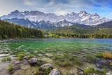 Fototapety Eibsee lake and Zugspitze top of Germany