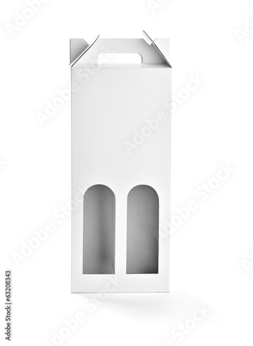 white box container template bottle drink blank package