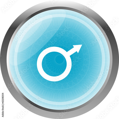 sex blue web glossy icon isolated on white