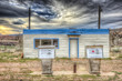 canvas print picture - Abandoned Gas Station