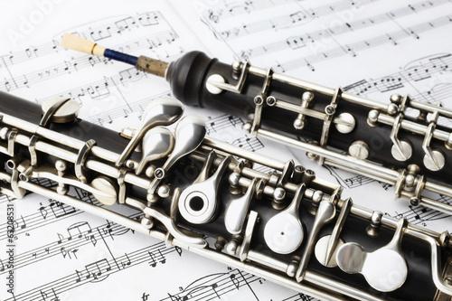 Papiers peints Magasin de musique Classical music instruments oboe