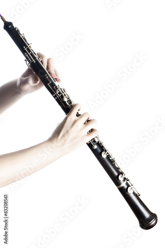 Oboe musical instruments with hands