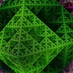 Part of sierpinski octahedron