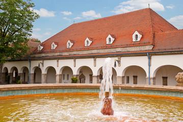 Im Kurbad des historischen Sprudelhofs in Bad Nauheim