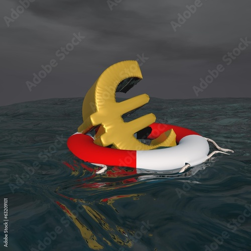 Saved euro - 3D render